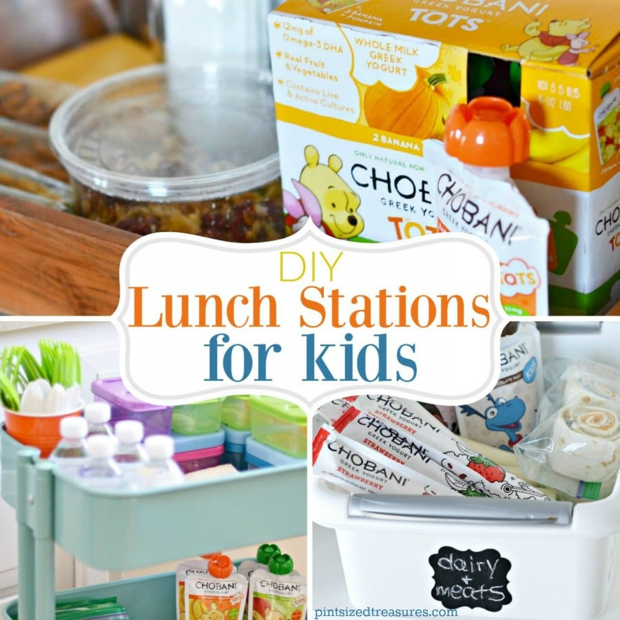 diy lunch stations for kids square