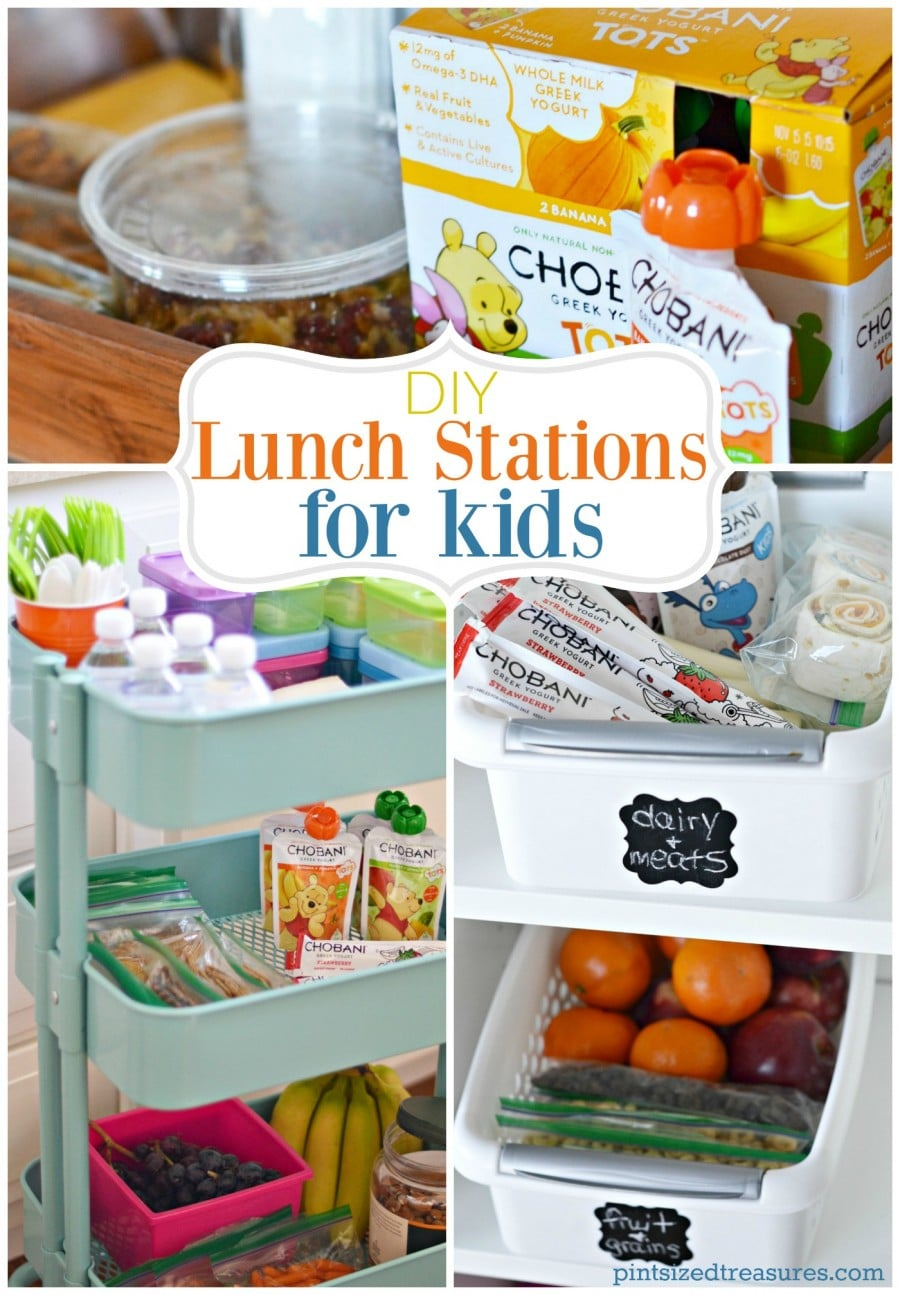 diy lunch stations for kids