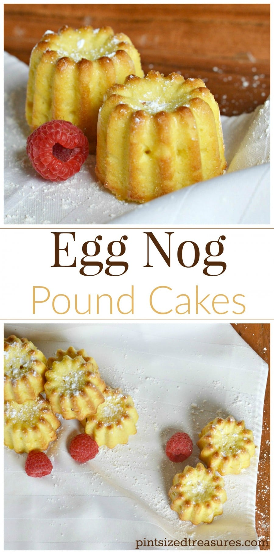 egg nog pound cakes