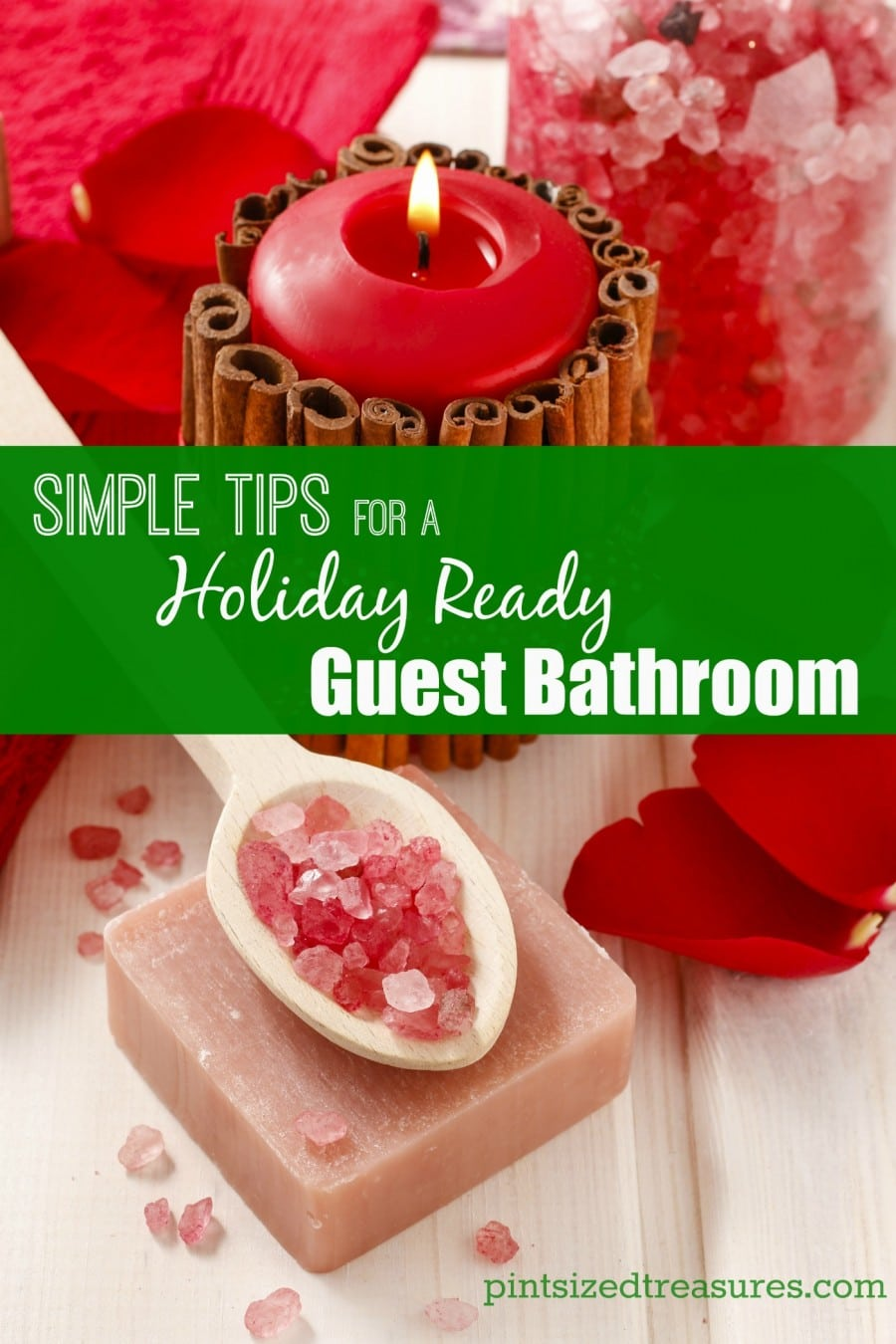 guest bathroom holiday decor ideas