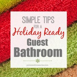 Simple Tips for a Holiday Ready Guest Bathroom
