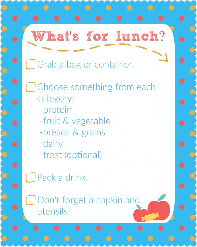 lunch printable
