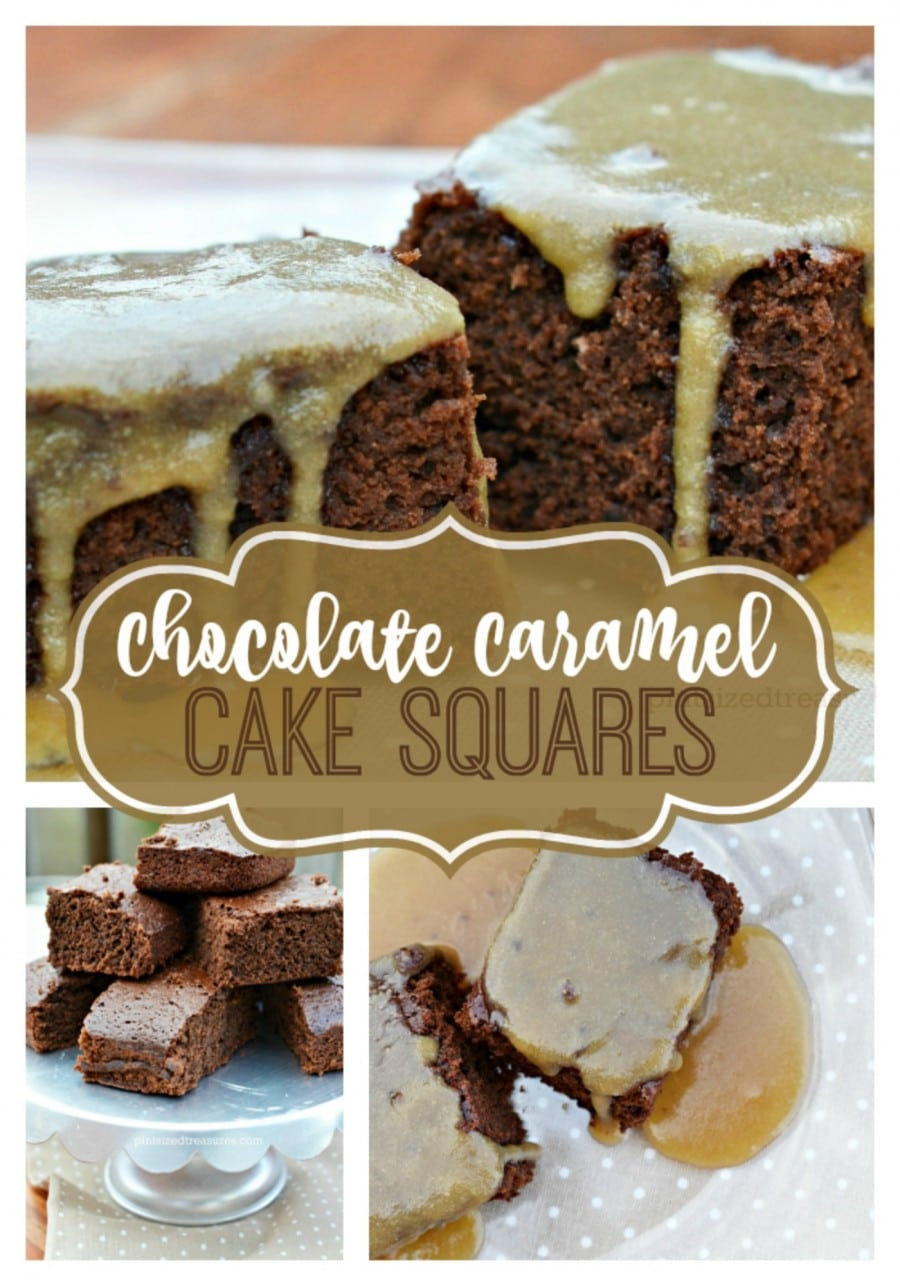 chocolate and caramel cake squares recipes