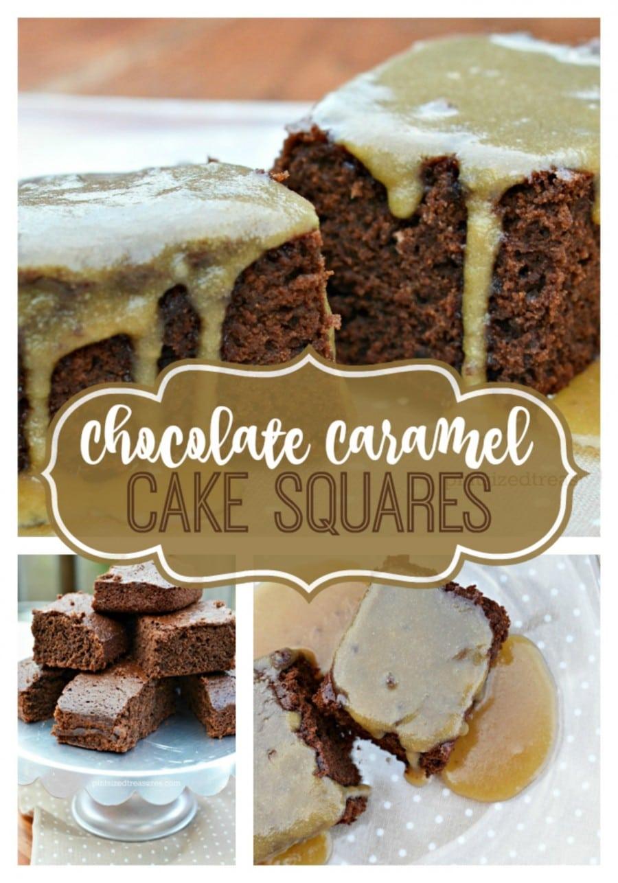 chocolate and caramel cake squares recipes