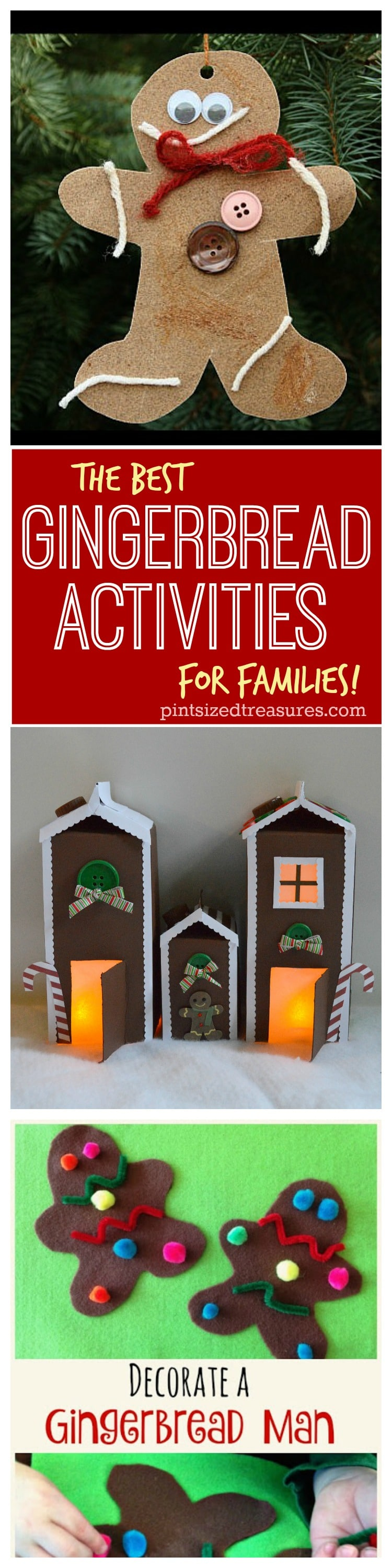 gingerbread activities collage