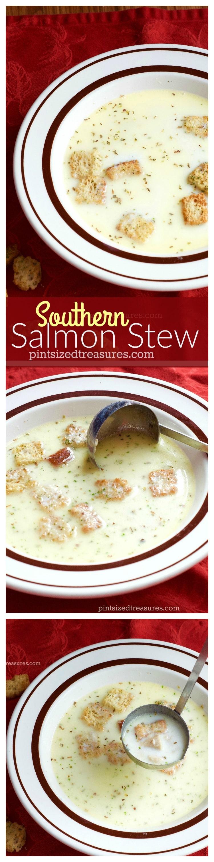 salmon stew collage