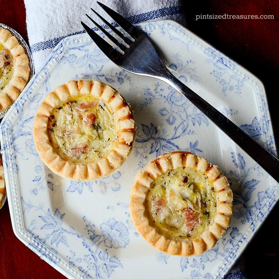 mini quiche with ham and havarti cheese