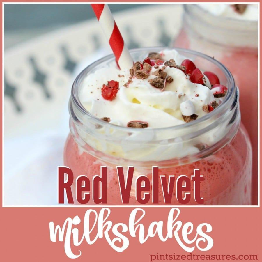red velvet milkshakes