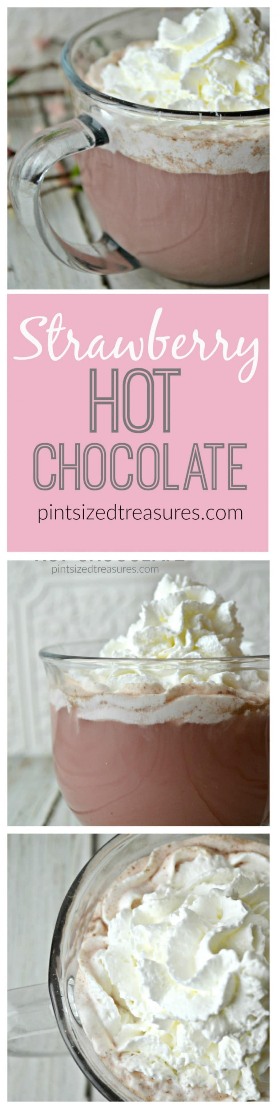 Strawberry Hot Chocolate · Pint-sized Treasures