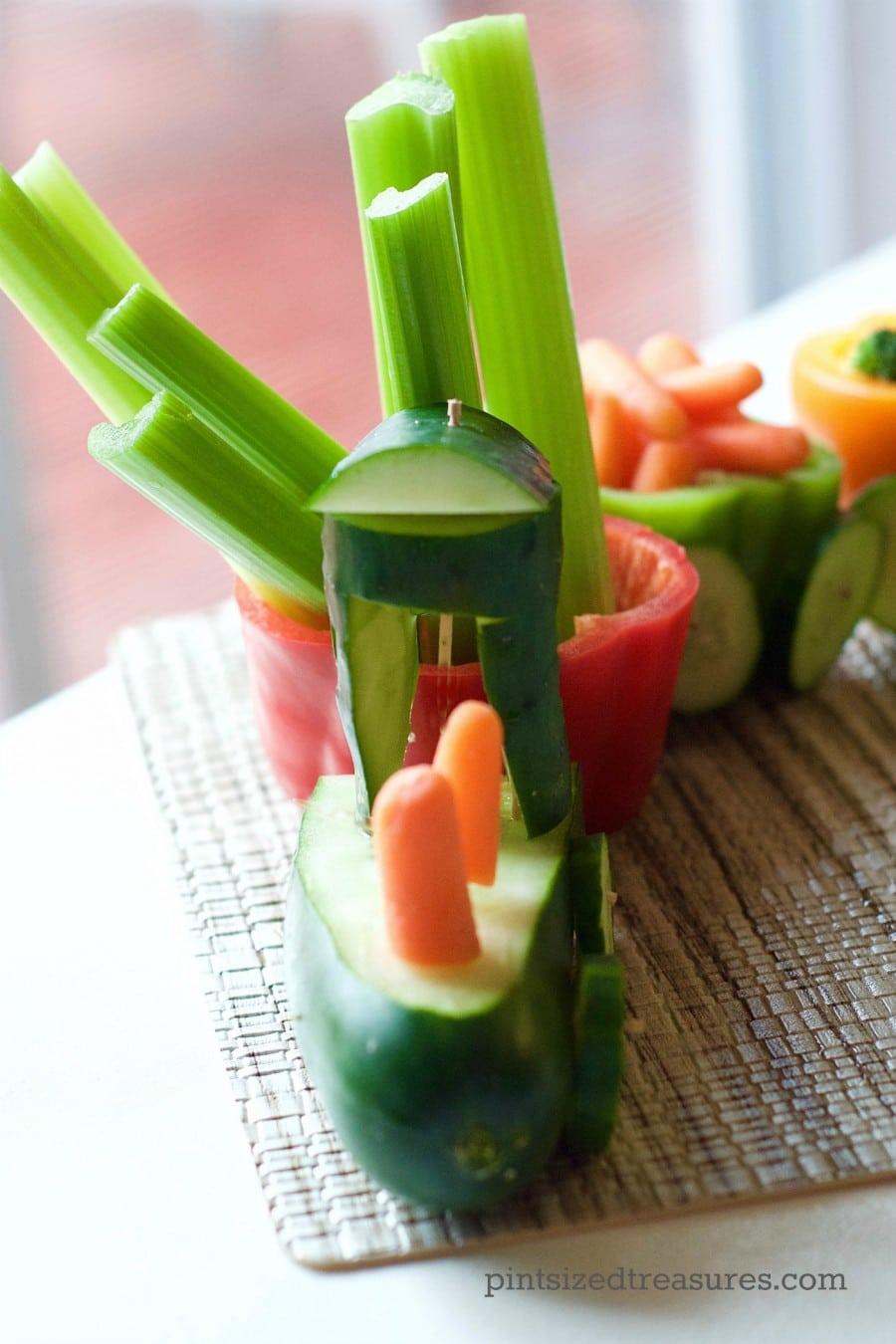 veggie train tray
