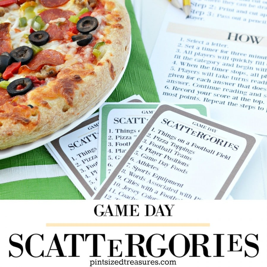 scatergories printable game for game day