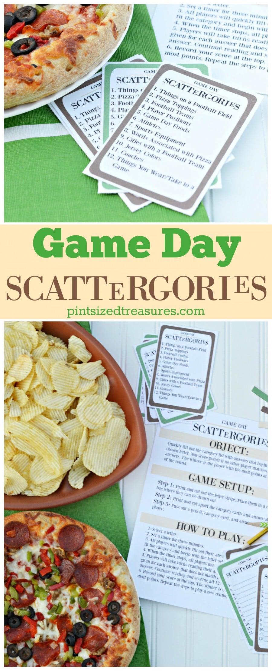 diy printable game day scattergories