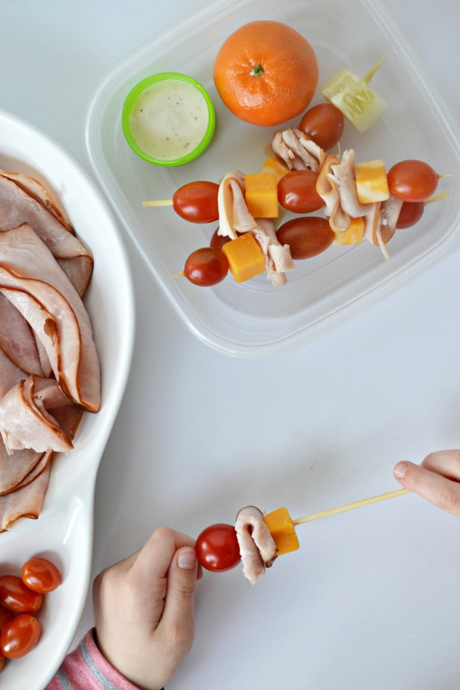how to make turkey and cheese skewers