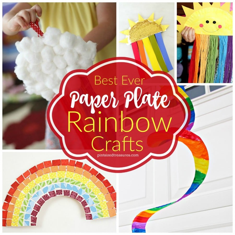 paper plate rainbow crafts for kids