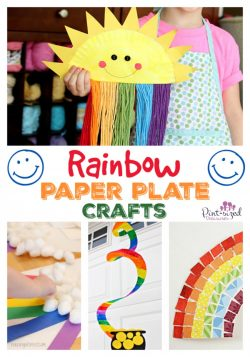 rainbow paper plate crafts