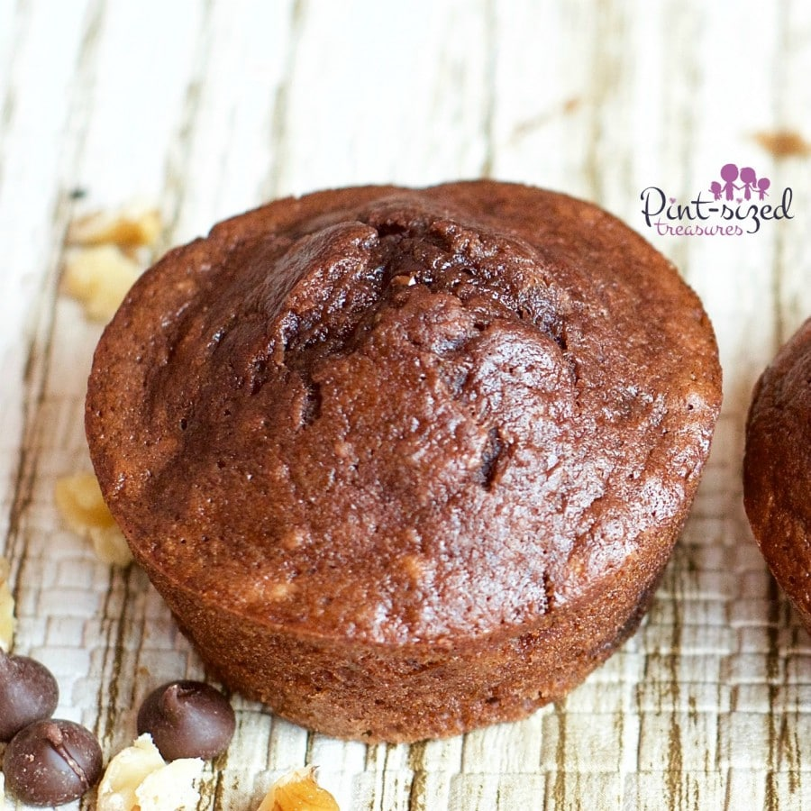 banana triple chocolate muffins
