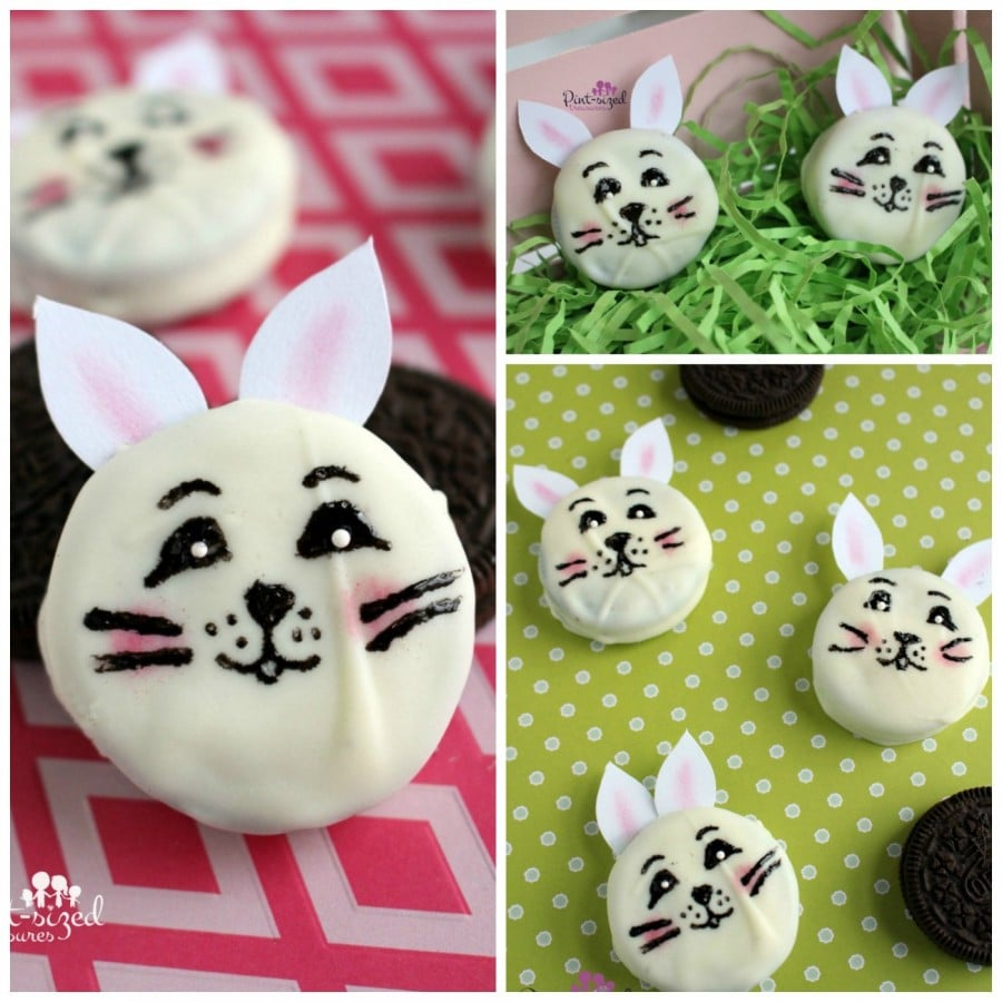 chocolate-dipped bunny cookies