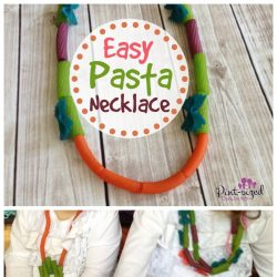 easy pasta necklace craft