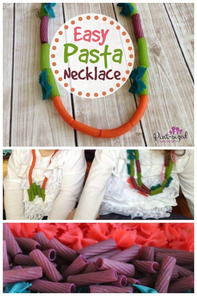 easy pasta necklace craft