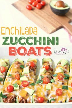 Enchilada Zuchinni Boats