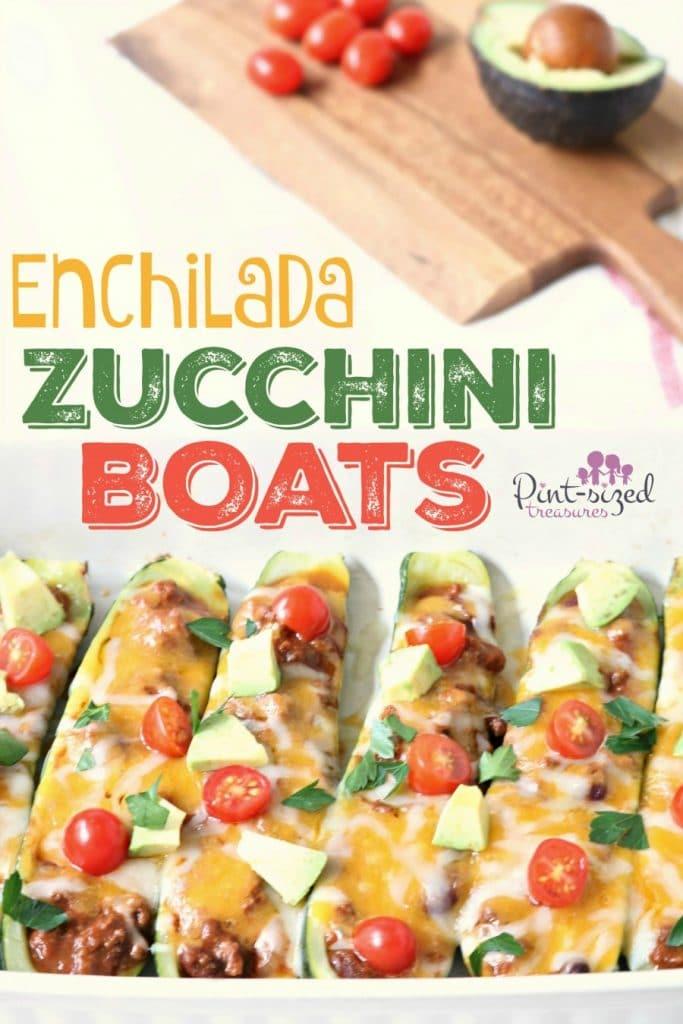Enchilada Zuchinni Boats