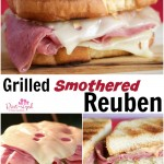 smothered grilled reuben sandwich