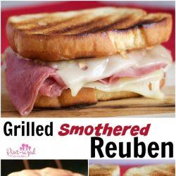 smothered grilled reuben sandwich