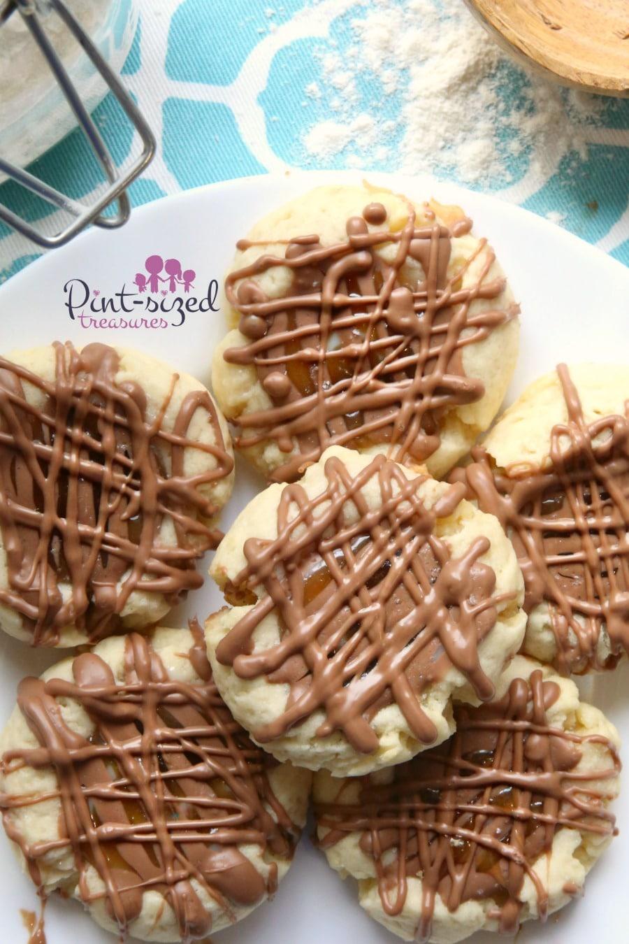 salted caramel twin cookies recipe