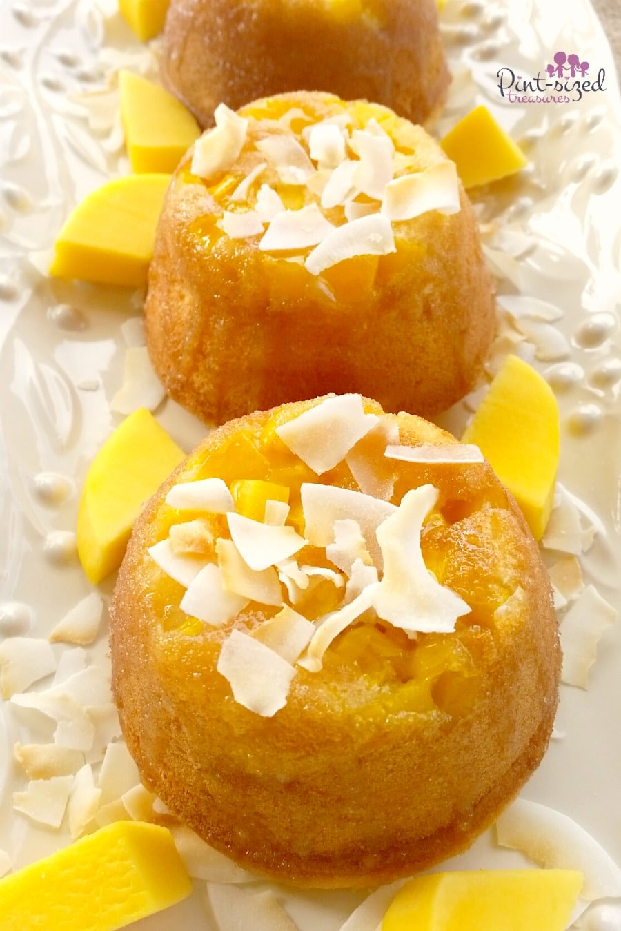 Mango Upside Down Cake With Cake Mix