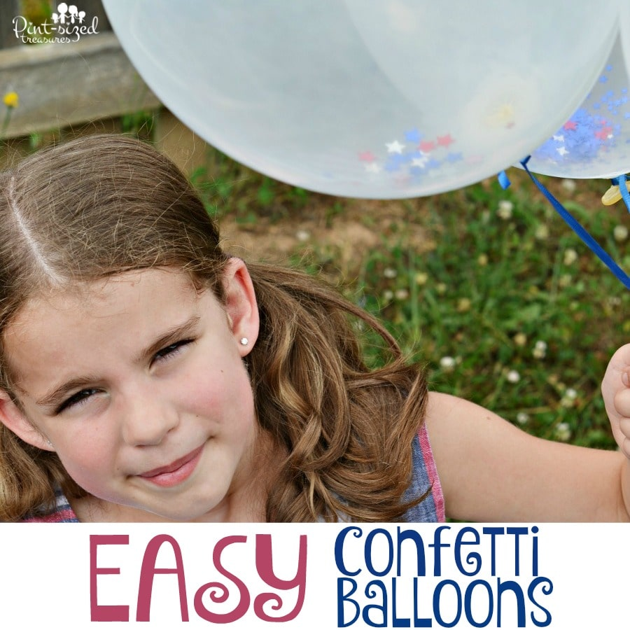 easy confetti balloons craft