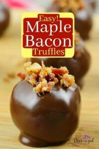 Easy Maple Bacon Truffles