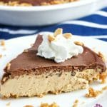 easy chocolate peanut butter cheesecake with gluten-free pretzel crust