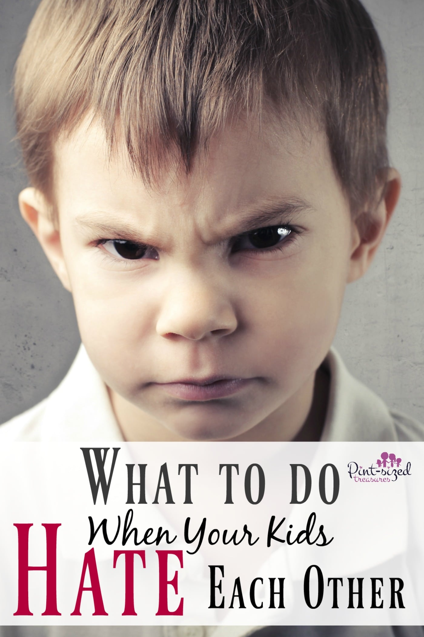 What To Do When Your Kids Hate Each Other · Pint-sized