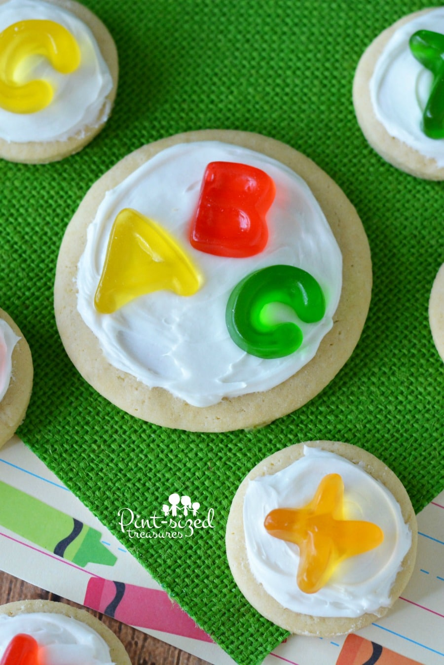 These alphabet sugar cookies are great for little learners!