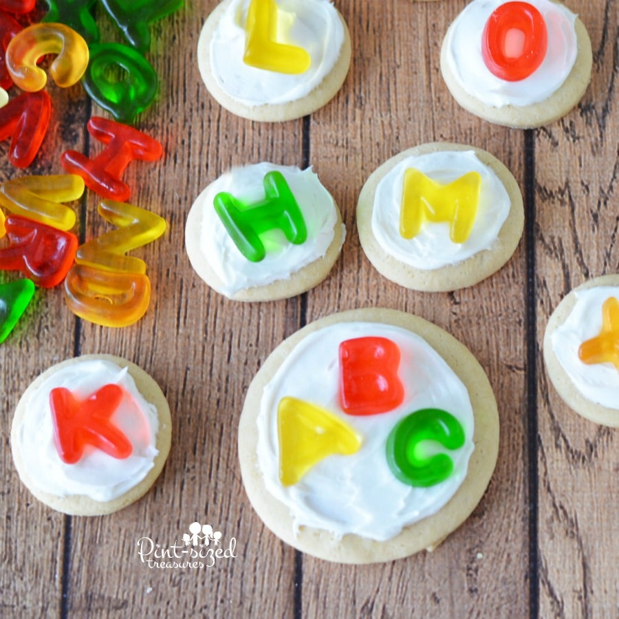 Love this easy alphabet sugar cookie recipe that makes learning fun for my little ones!!
