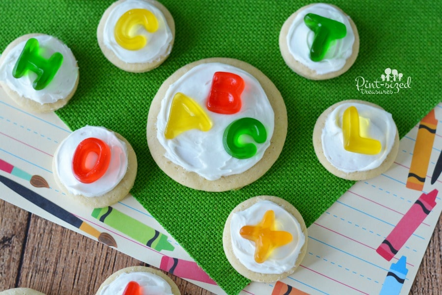Easy alphabet sugar cookie that are great for teaching preschoolers basic concepts!