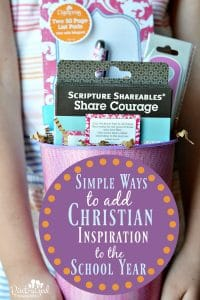 Want to add Christian inspiration to your school year? Check out these ideas!