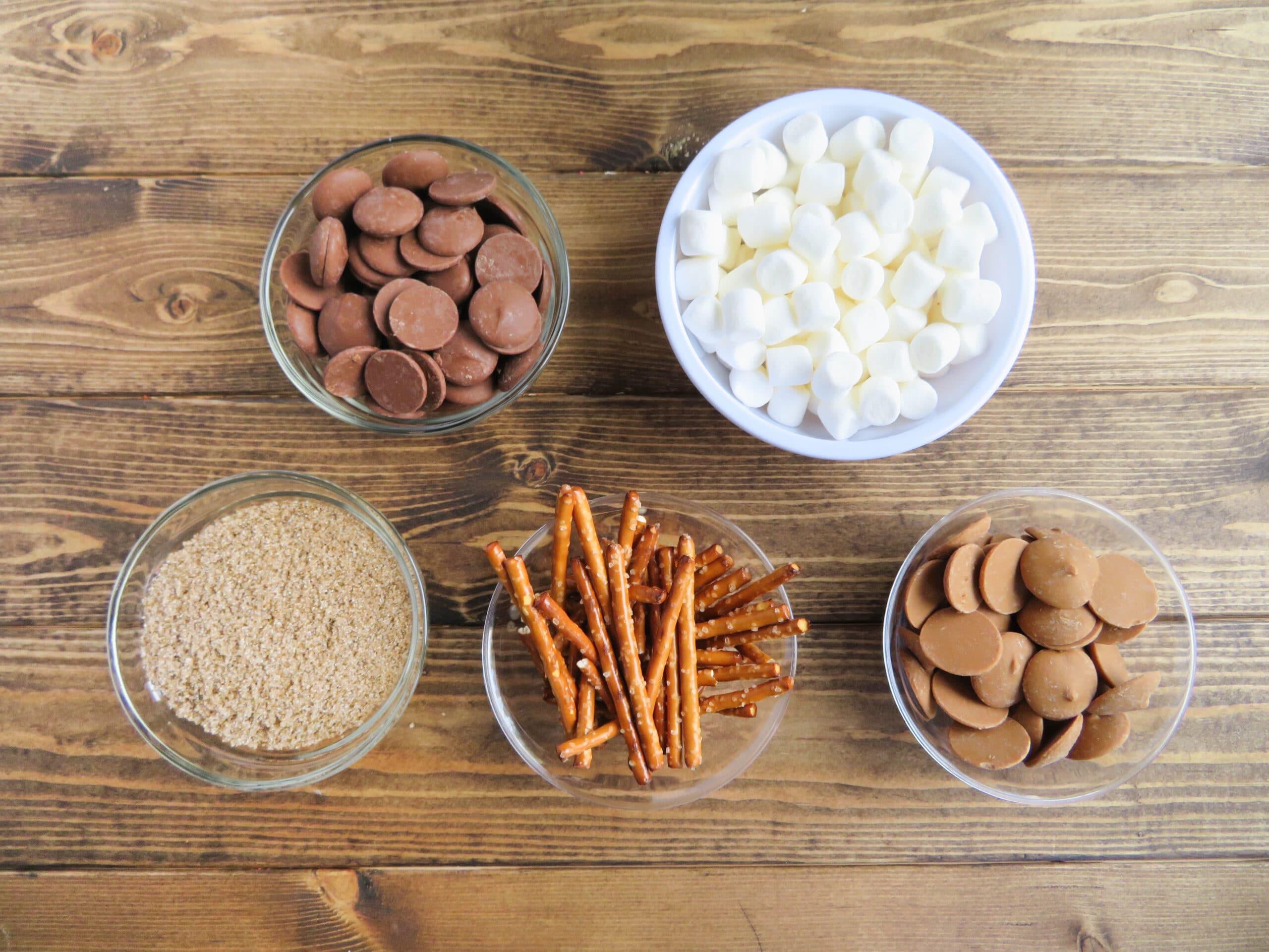 ingredients for edible mini acorns