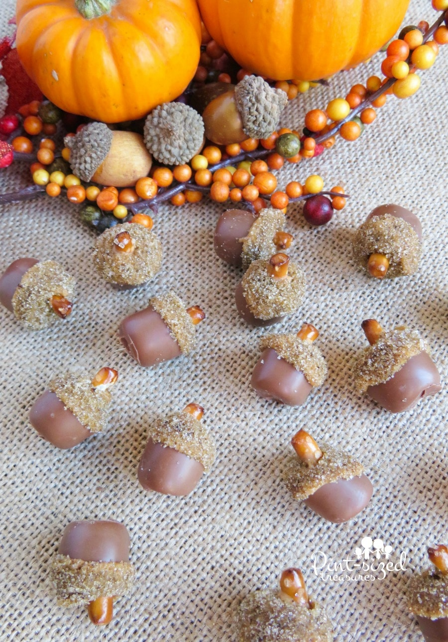 mini edible acorns recipe
