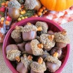 edible mini acorns recipe