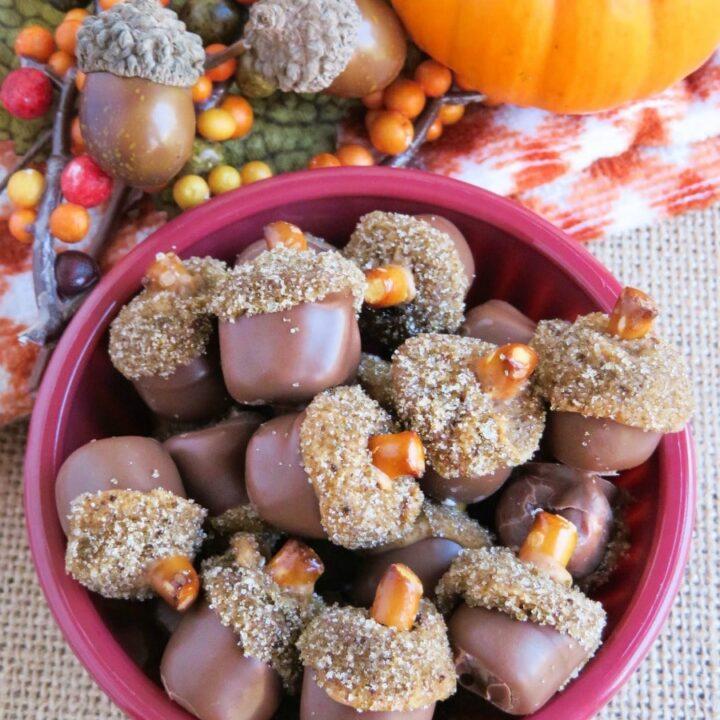 edible mini acorns recipe