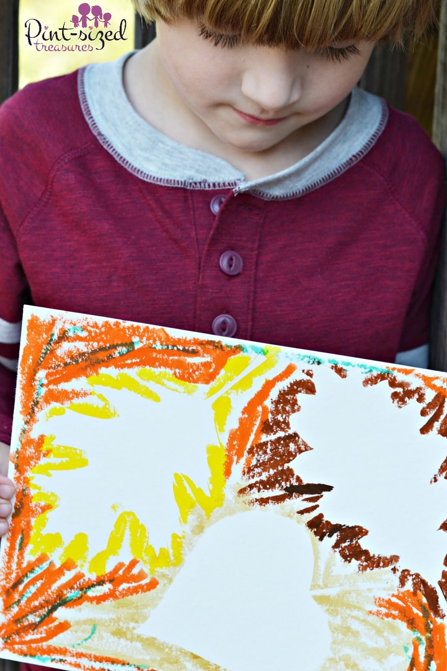 mess free leaf silhouette paintings