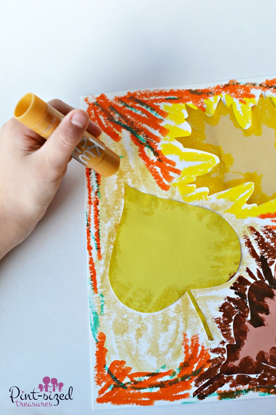kid approved valentine's day meals - leaf silhouette paintings · Pint sized Treasures