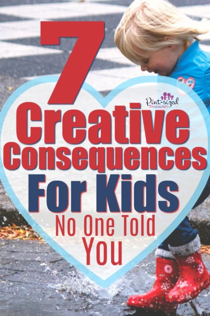 These creative consequences for kids are SUPER effective! this will help parents and kids see the importance of rules and boundaries in the parenting journey!