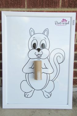 Feed the Squirrel Preschool Activity