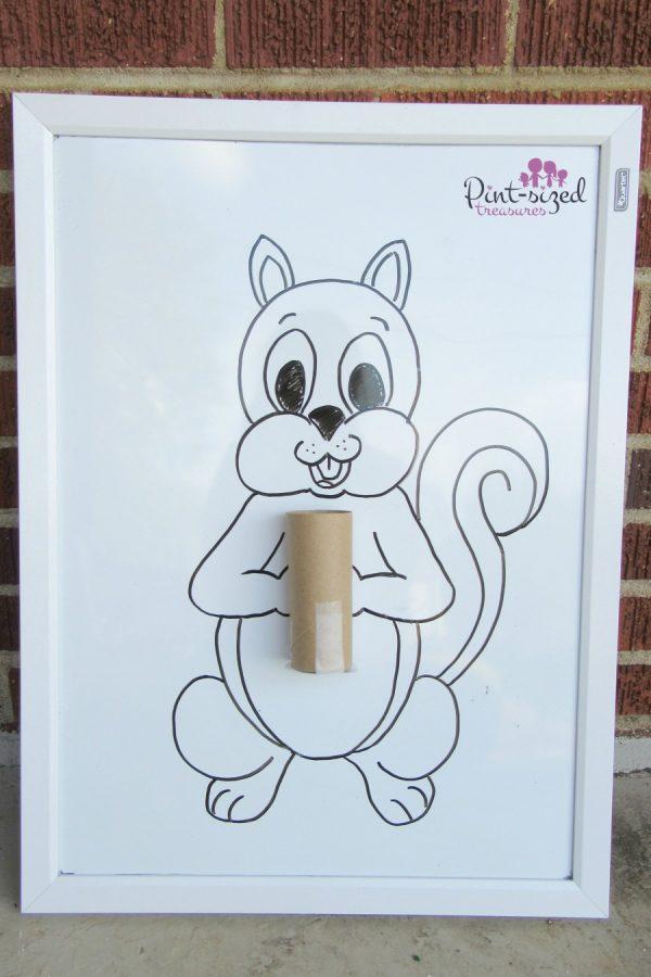 feed the squirrel preschool activity