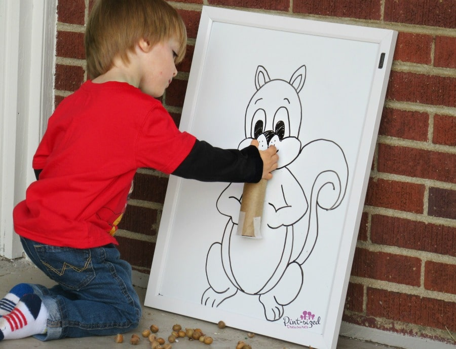 feed the squirrel activity for preschoolers