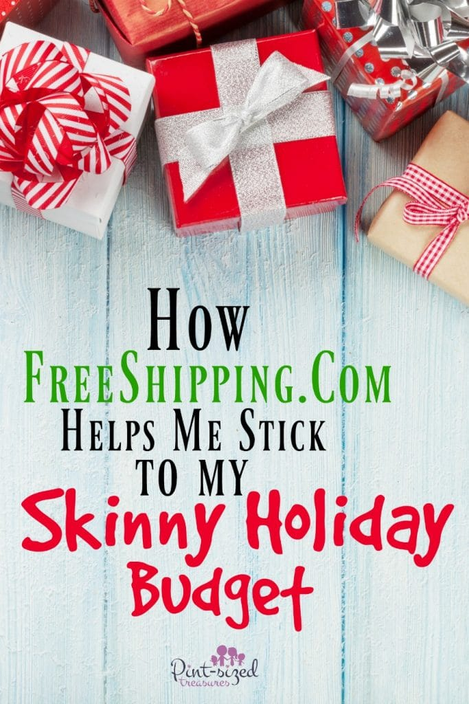 how free shipping.com helps me stick to my skinny holiday budget
