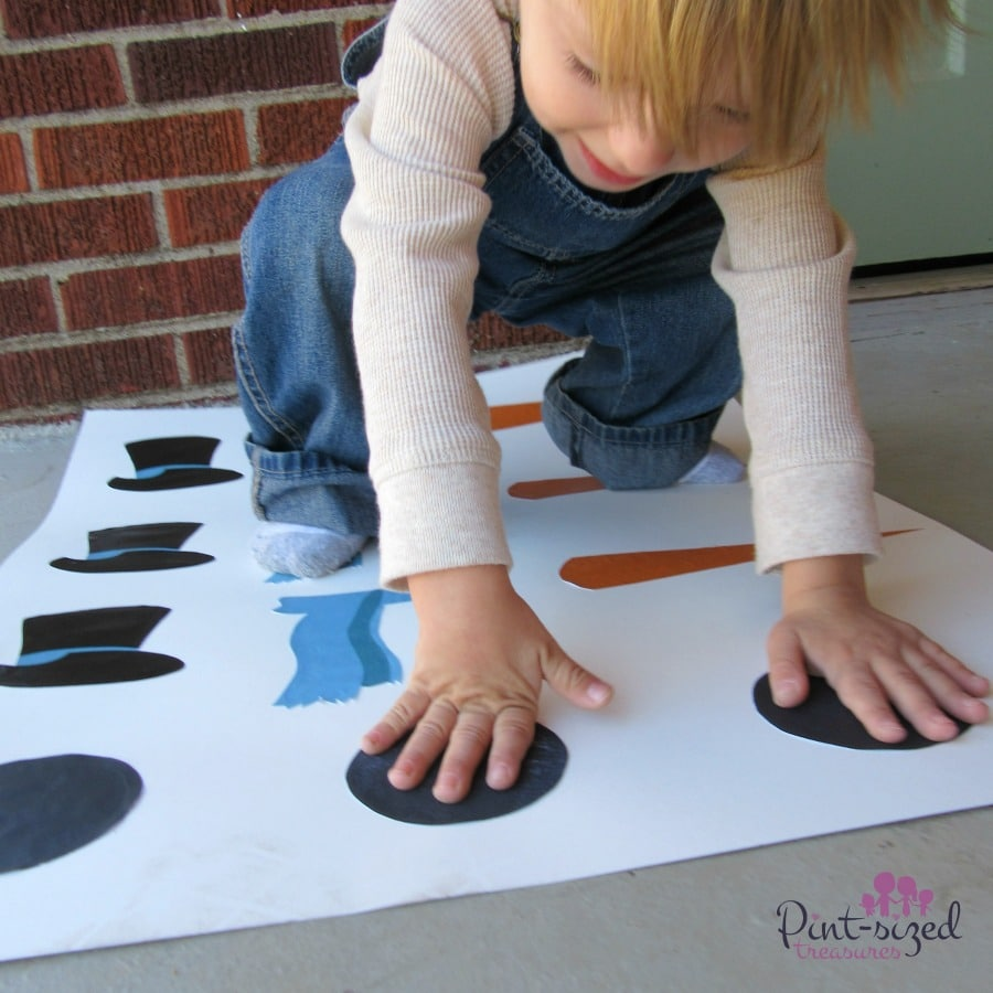 snowman twister game and printable set