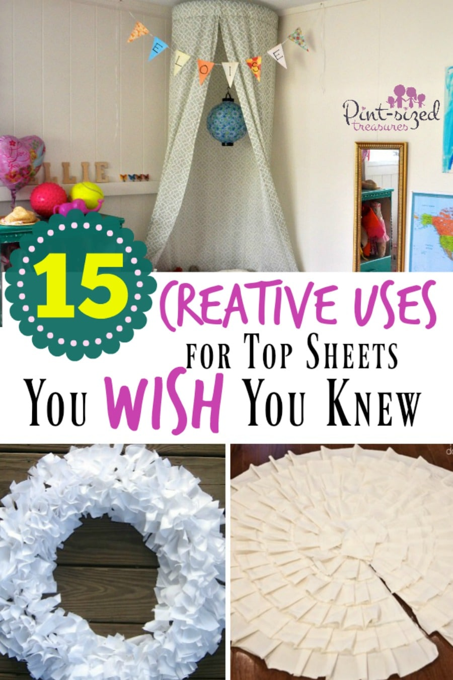 creative uses for top sheets you wish you knew